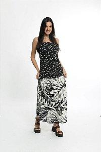 Vestido Sombra de Praia Textura Preto Farm