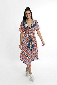 Vestido Cropped Bossa Nova Multicolorido Farm