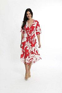 Vestido Cropped Pareo Tuca Baiano Vermelho Pimenta Farm
