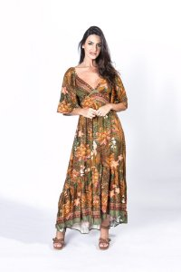 Vestido Cropped Estampado Selva de Onça