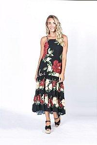Vestido Midi Regata Estampado Doce Veraneio Farm
