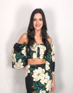 Blusa Cropped Estampada Trifloral Farm