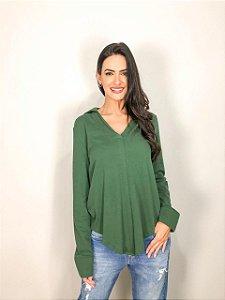 Camisa Malha Lisa Verde FYI