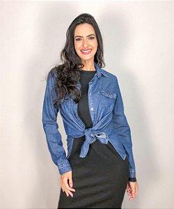 Camisa Feminina Jeans Escuro FYI