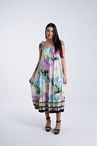 Vestido Midi Estampado Liz Farm