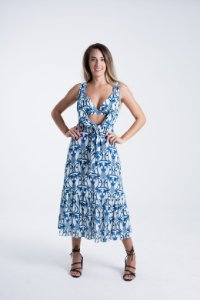 Vestido Cropped Estampado Abacaxi Tropical Farm