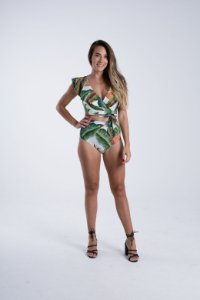 Body com Babados Estampado Floresta Tropical Farm
