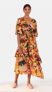 Vestido Cropped Estampado Bananissima Farm