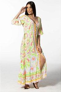 Vestido Cropped Estampado Riviera Farm