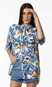 Camisa Feminina Estampada Tucanos Livres Farm