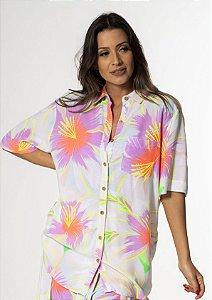 Maxi Camisa Estampada Uni Chita Bali Farm