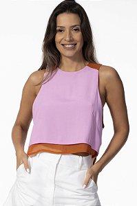Regata Cavada Bicolor Rosa com Cobre Open