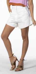 Shorts Curto Liso Off White Open