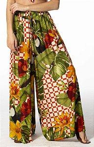 Calça Pantalona Estampada Desejo Gráfico Farm