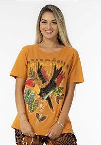 T-shirt Estampada Amazônia Amarelo Guariba Farm