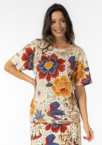 T-shirt Feminina Estampada Encanto das Águas Farm
