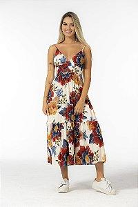 Vestido Midi Estampado Canto das Águas Floral Farm