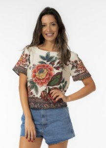 Blusa T-shirt Estampada Kaen Farm