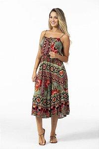 Vestido Midi Estampado Samba de Flor Farm