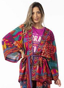 Kimono Estampado Patch Gráfico Farm