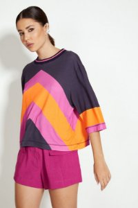 Blusa Feminina Ampla Colorida Open