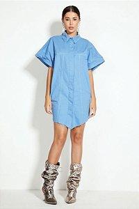 Maxi Camisa Sarja Azul Atomic Open
