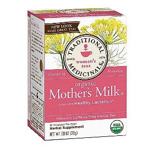 Chá orgânico para aumento da lactação