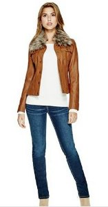 LEEMA FAUX-LEATHER JACKET