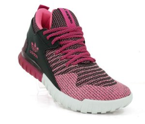 Tênis Feminino Adidas Tubular X Primeknit Rosa e Preto