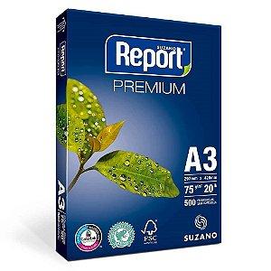 Papel Sulfite Branco A3 75g Report Premium