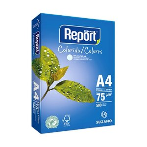 Papel Sulfite Azul A4 75g Report