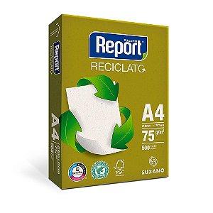 Papel Sulfite Reciclato Branco A4 75g Report
