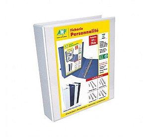 Fichário Personnalité A4 com 2 Argolas - Branco - Acp