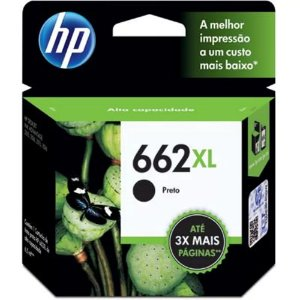 Cartucho de Tinta 662XL CZ105AB - Preto 6,5ml - HP