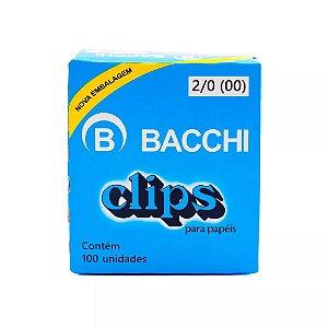 Clips 2/0 Galvanizado c/ 100 Unidades - Bacchi
