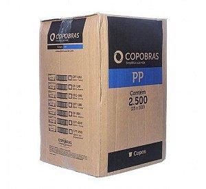Copo Plástico Descartável Branco 200ml - Caixa c/ 2500 Unidades - Copobras