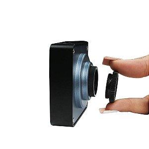 Adaptador Rosca para Câmera Microscópio Trinocular