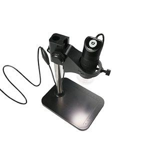 Microscópio Digital USB Com Iluminação 1000X Base Grande