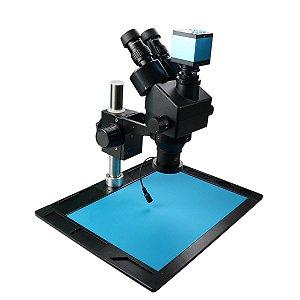 Microscopio Trinocular 37045A Preto Completo CN2