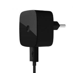 Carregador Turbo Motorola Micro USB Preto Fonte Moto Turbo E Cabo De Dados