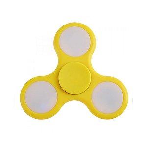 Fidget Hand Spinner Anti Stress Com Led Plastico Amarelo