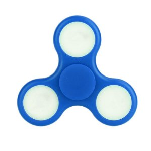 Fidget Hand Spinner Anti Stress Com Led Plastico Azul