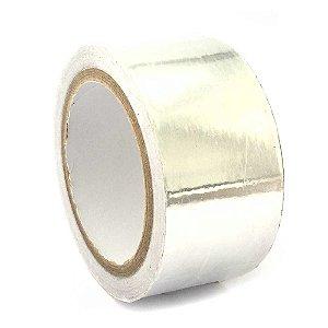 Fita Termica Aluminio Alta Temperatura 50mm Rolo 30Mts