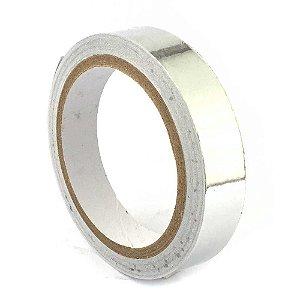 Fita Termica Aluminio Alta Temperatura 20mm Rolo 30mts