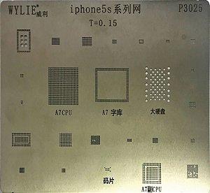 Stencil Wylie Para Reballing E Bga Iphone 5 P3012