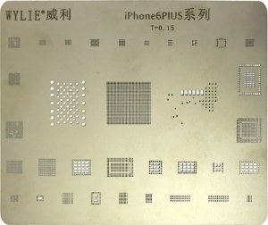 Stencil Wylie Para Reballing E Bga Iphone 6Plus