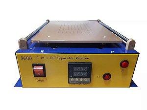 Maquina de Separar Lcd Vacuo Tablet Ipad 14 Polegadas 968Q 220v + Brinde