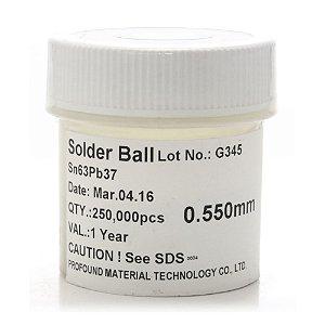Esferas Bga Reballing 63SN 37PB 0.55mm 250k