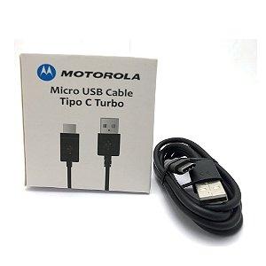 Cabo usb Motorola Tipo C Preto Caixa