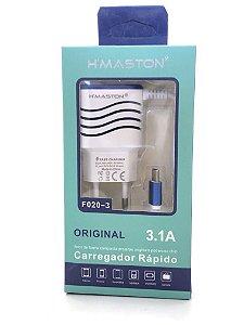 Carregador HMASTON F020-3 BRANCO Tipo c